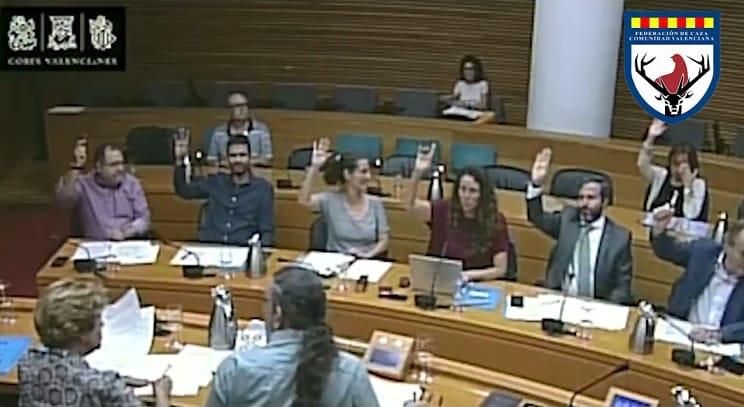 Aprobada por unanimidad  una PNL para dignificar la caza en la Comunidad Valenciana