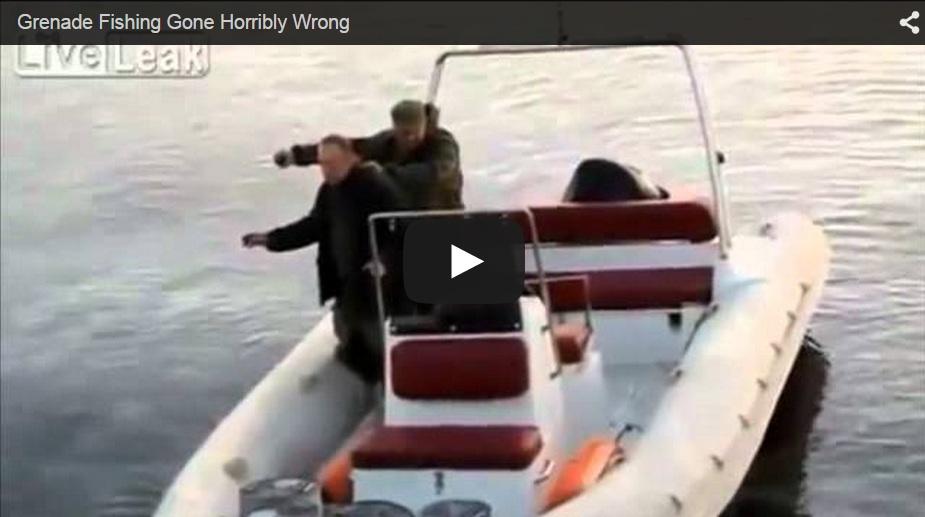 Terrible accidente al intentar pescar utilizando una granada de mano