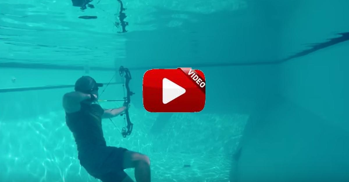 Arco: graban a cámara lenta espectaculares disparos bajo el agua