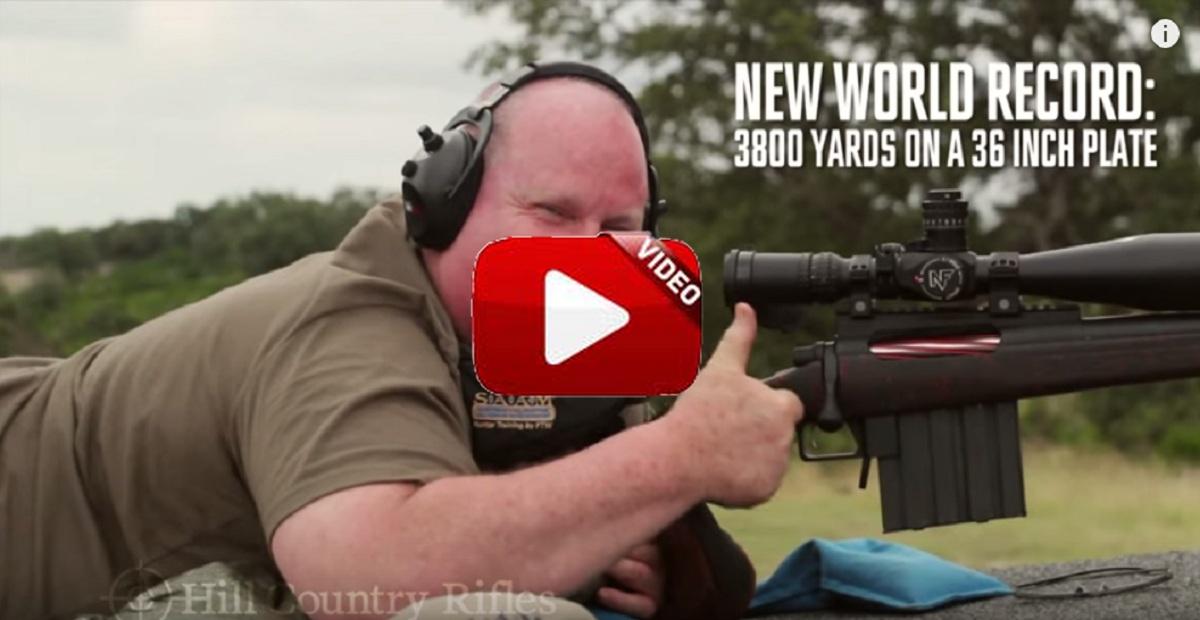 Nuevo récord del mundo: realiza un disparo alcanzando su objetivo ¡a casi 3,5 kilómetros de distancia!