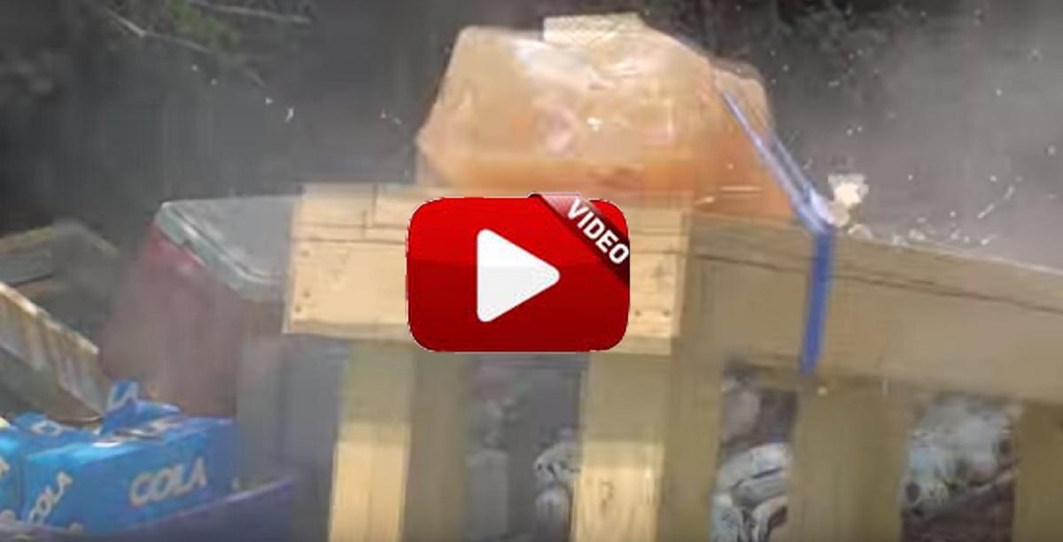 Esto es lo que sucede si disparas una bala de escopeta sobre gel balístico