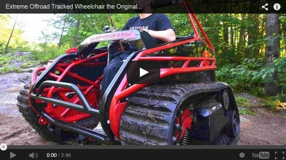 Silla de ruedas 'todoterreno' para cazadores con movilidad reducida