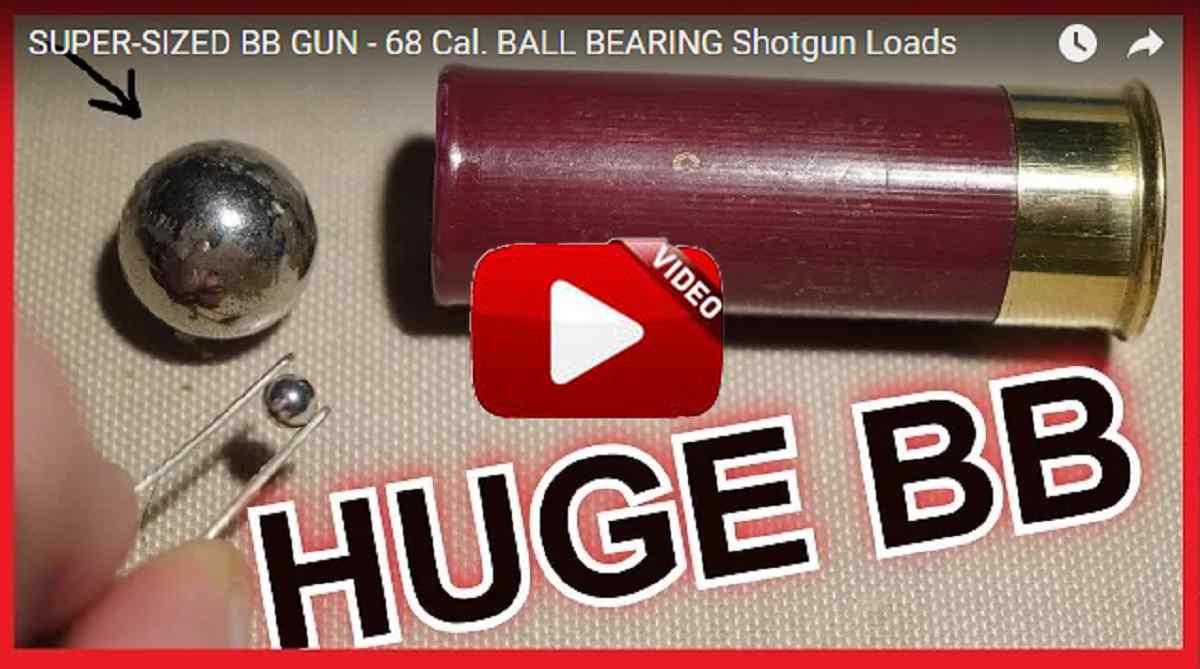 Recargan cartuchos con bolas de acero del calibre .68