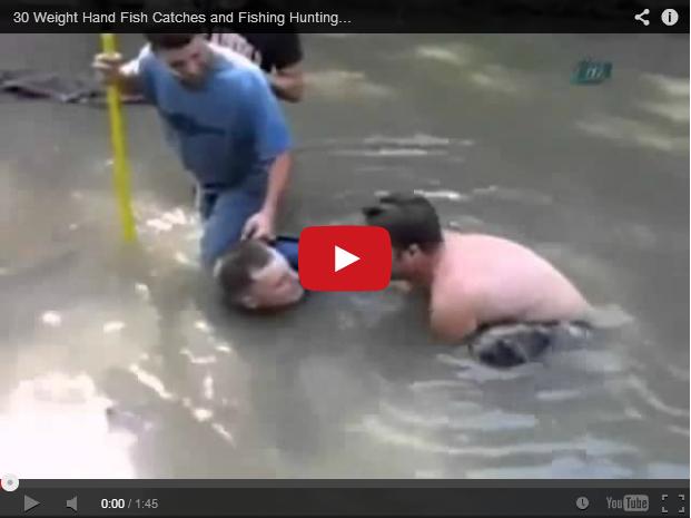 ¡Pesca con la manos!