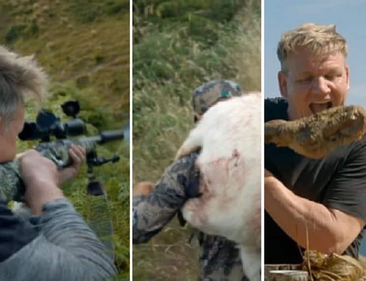 El odio animalista carga contra un famoso chef por cazar una cabra y cocinarla