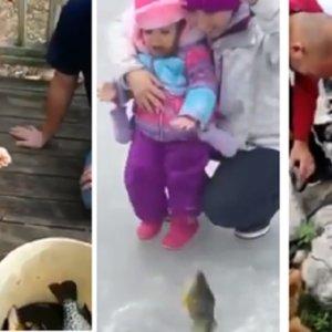 Desternillante recopilación de niños pescando por primera vez