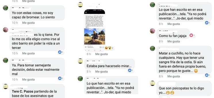 Más comentarios e insultos de animalistas contra Mel Capitán. / Facebook