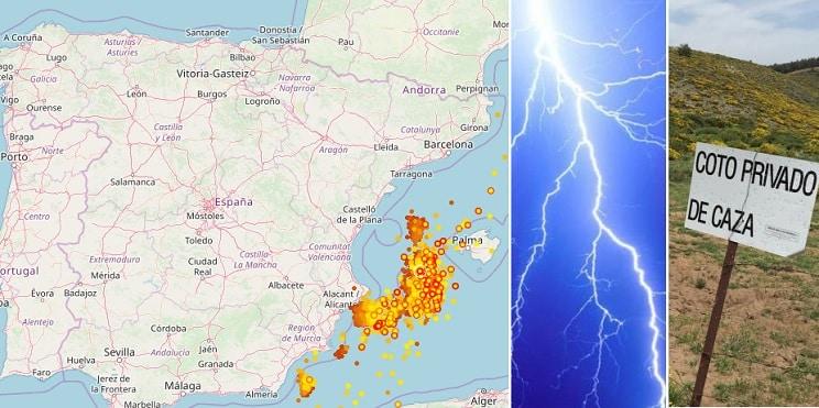 Con este mapa puedes ver en tiempo real si la tormenta eléctrica está en tu coto