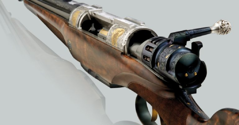 rifle de cerrojo de dos cañones