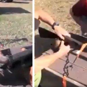 Taponan el cañón de una escopeta con barro y disparan: esto es lo que sucede