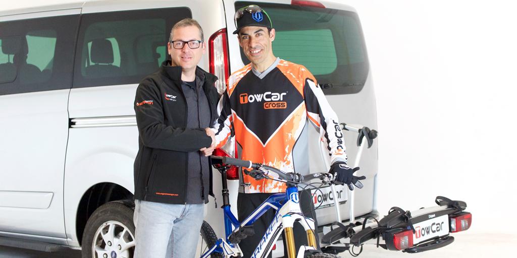 Acuerdo de colaboración entre TowCar y un 'histórico' del Mountain Bike, el alcoyano Jacobo Santana