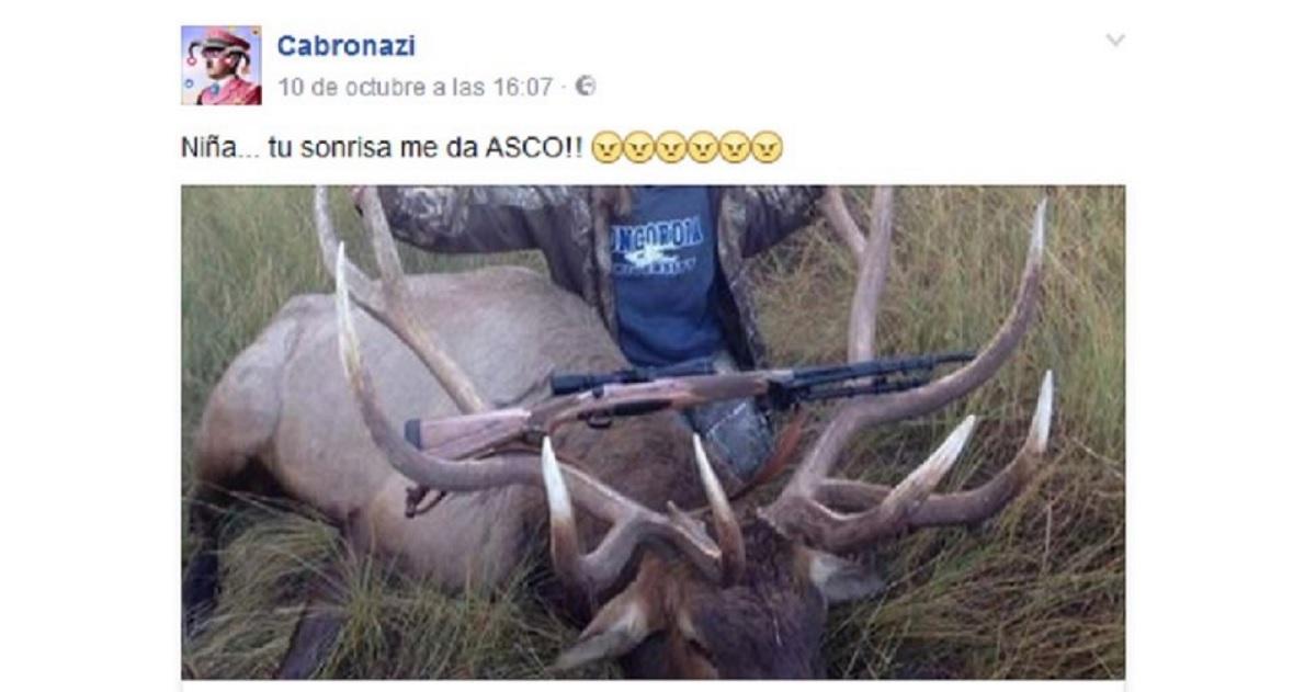 Una cazadora abate un ciervo récord y le llueven los insultos de los animalistas