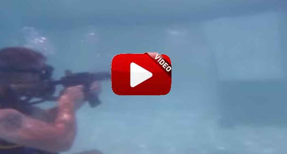 Esto es lo que sucede si te disparan a 10 metros bajo el agua