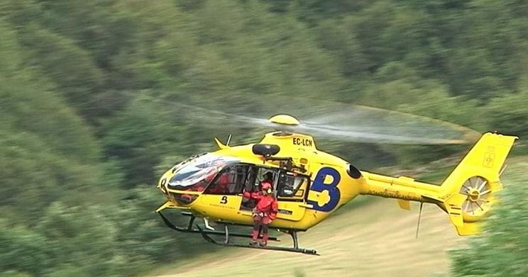 Un operativo del 112 intenta rescatar a un cazador despeñado en el Pico Cornón