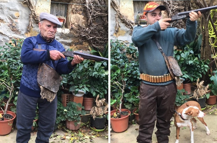 escopeta abuelo nieto