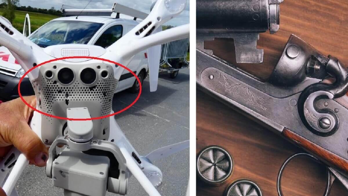 Derriba un dron que pasaba sobre su cabeza de un escopetazo
