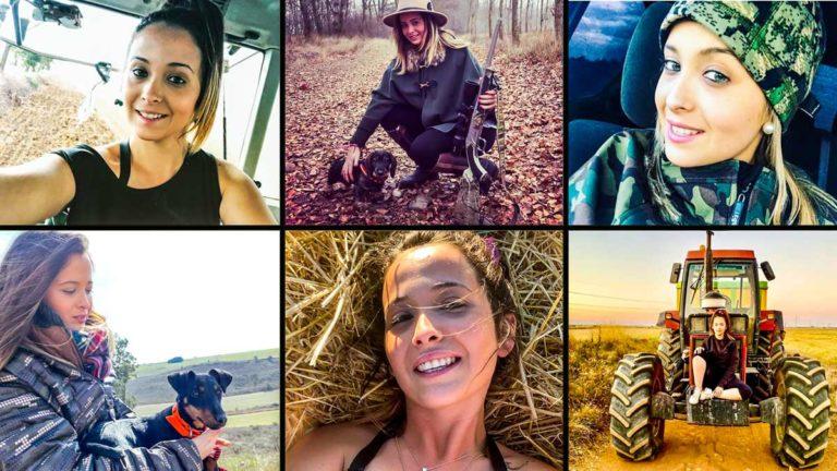 Varias imágenes de Miriam en su cuenta de Instagram Jóvenes Agricultoras. @Instagram