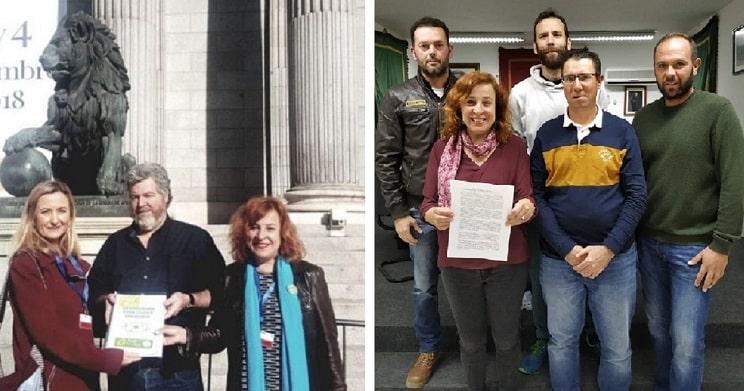 alcaldesa de IU y militante de EQUO firma mocion en apoyo a la caza