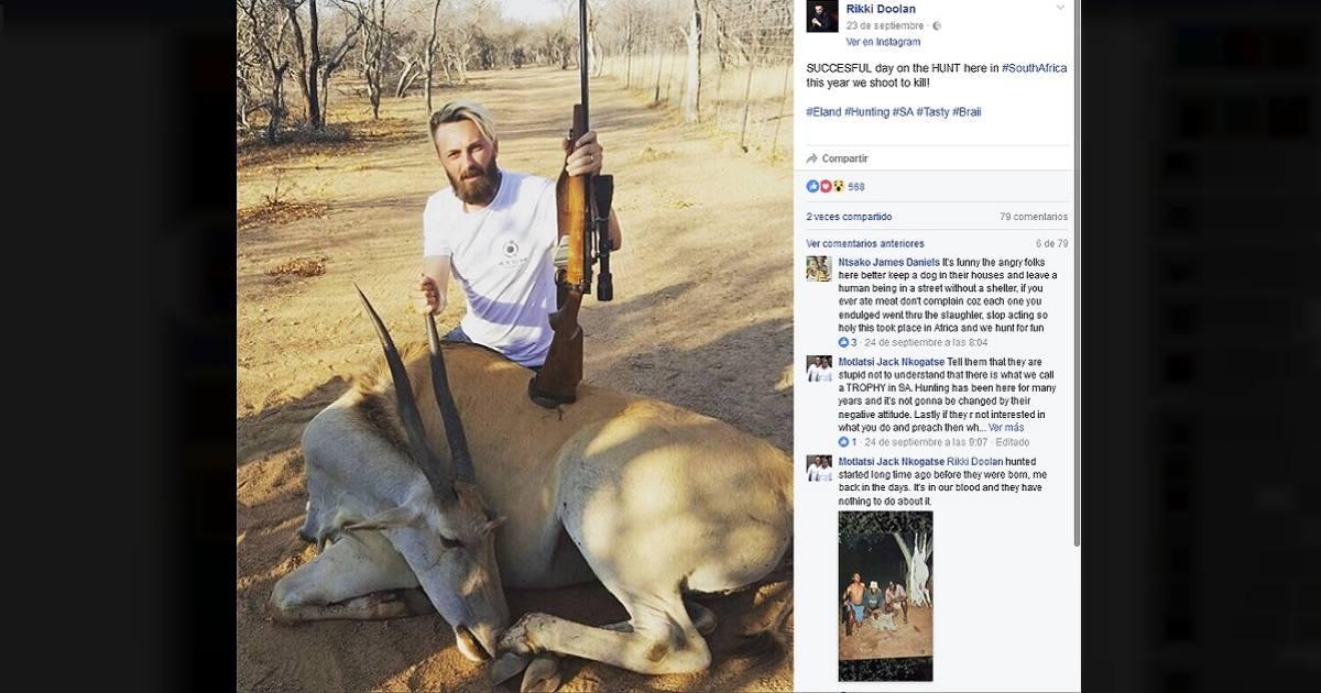 Un cura caza un eland y recibe amenazas de muerte