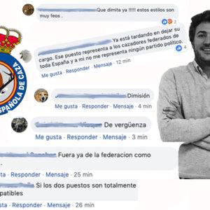 Las redes sociales exigen la dimisión del presidente de la RFEC tras unirse a Vox