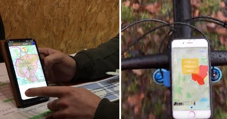 Esta app avisa a ciclistas y senderistas de los lugares en los que se está cazando
