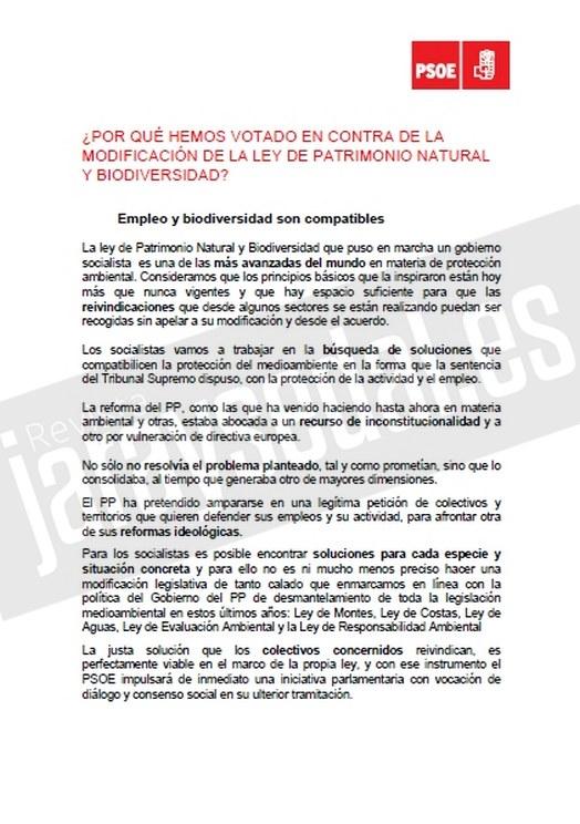 Argumentario del PSOE