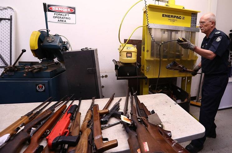 Australia regulariza 26.000 armas ilegales en apenas dos meses