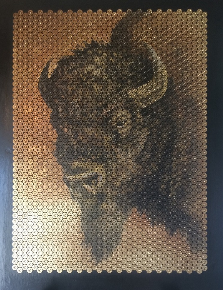 artista elabora cuadros a partir de vainas
