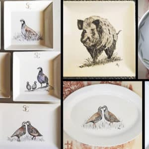 Así crea estos preciosos platos de cerámica con motivos de caza esta artista sevillana