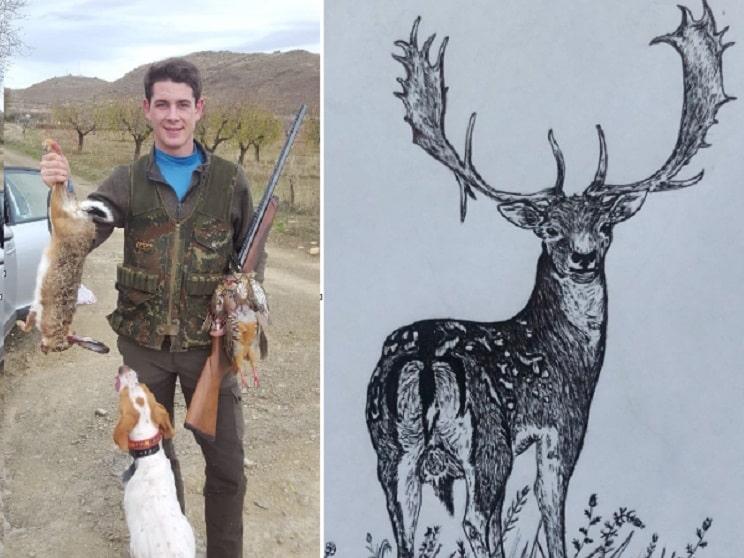 Así dibuja este joven especies de caza en su cuaderno entre clase y clase