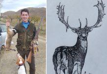 dibujo caza