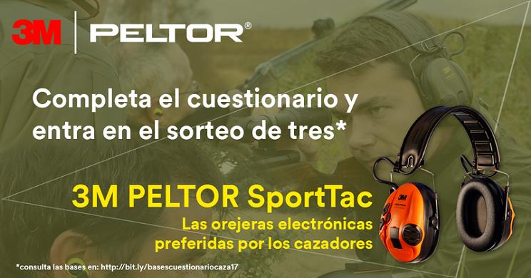 """3M PELTOR sortea 3 Protectores auditivos SportTac por completar la encuesta """"La Sordera del Cazador"""""""