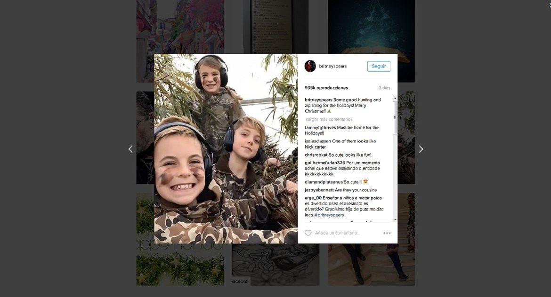 Britney Spears publica un vídeo de sus hijos cazando e incendia las redes sociales