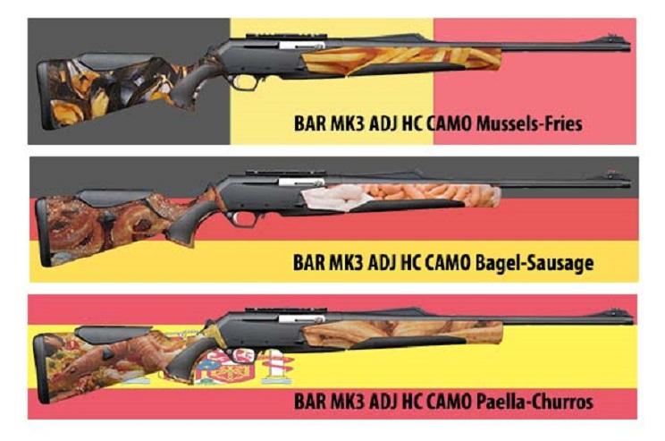 Las mejores inocentadas de la red: rifles con camuflaje de paella y balas con cámara incorporada
