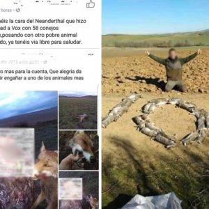Los animalistas publican los datos del individuo de la polémica foto de los conejos