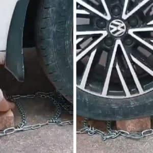 5 consejos para poner las cadenas de nieve a tu coche (y un truco tan simple como efectivo)