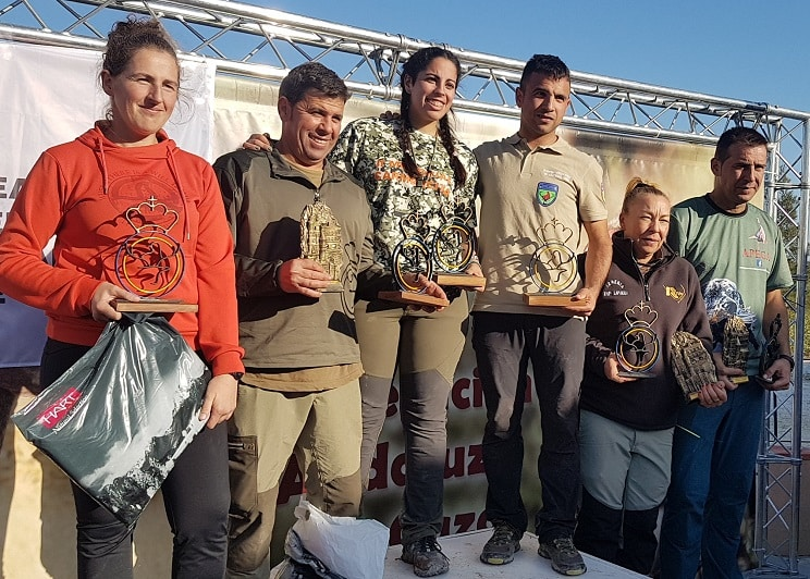 Anabel Romero y Ricardo Ramos, campeones de España de Caza Menor con Perro