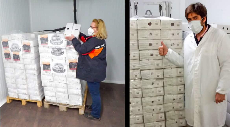Los cazadores responden a las críticas animalistas con la mayor donación de carne de caza de la historia: 1.160 kg