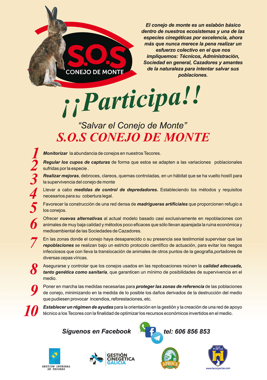 'S.O.S CONEJO DE MONTE' comienza la captación de apoyos