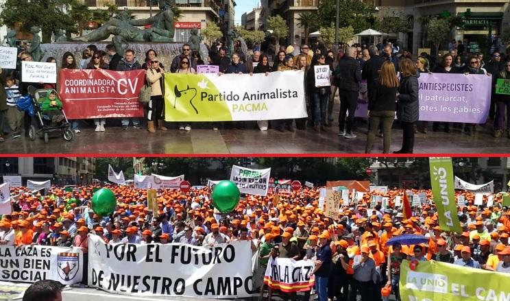 PACMA vuelve a fracasar en otra manifestación contra la caza