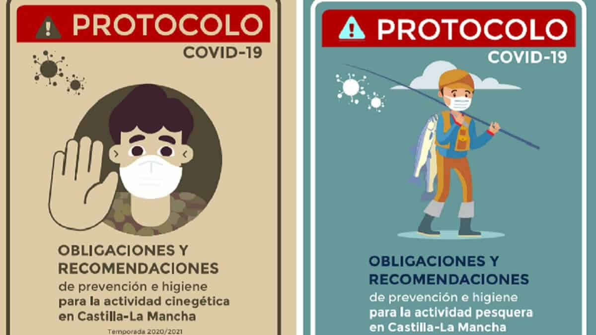 Castilla-La Mancha actualiza los protocolos COVID-19 para cazar y pescar de forma segura