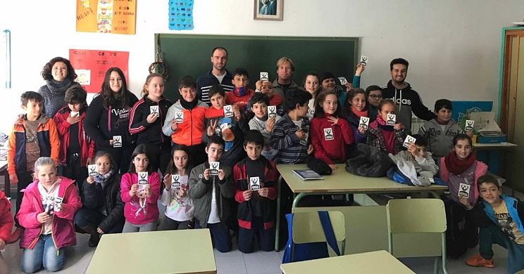 Alumnos de uno de los centros que ya ha disfrutado de las actividades de FEDEXCAZA.
