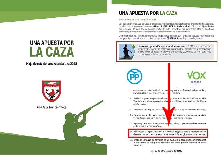 La FAC celebra que #LaCazaTambienVota haya conseguido el reconocimiento de PP y VOX