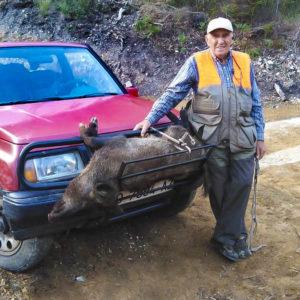 Félix García, el cazador en activo de 87 años que no ha faltado ni un solo día de caza desde los 14