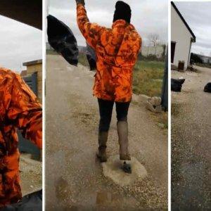 El vídeo de un cazador devolviendo la basura al «cerdo» que la arrojó al monte se vuelve viral