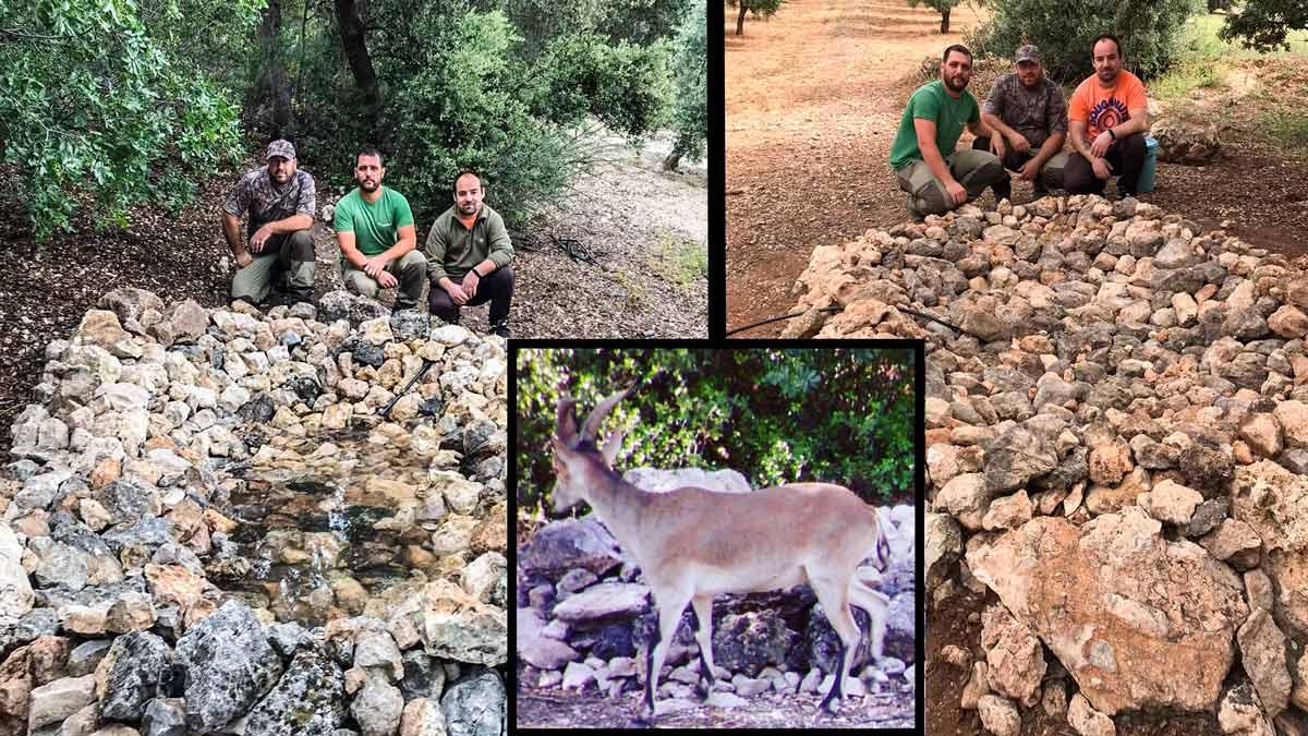Cazadores llevan agua a la fauna silvestre ante la ola de calor: «Si no los ayudamos nosotros nadie lo hará»