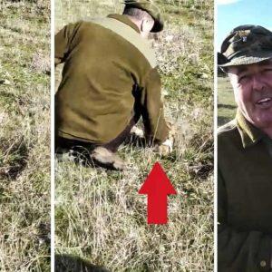 Este cazador sorprende a su cuadrilla y captura una liebre de la forma más inimaginable
