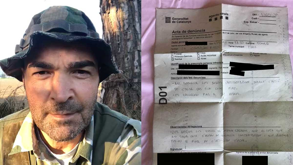 El cazador denunciado por no recoger las vainas en un puesto fijo: «Me trataron como si fuese un delincuente»