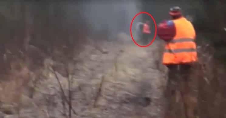 Este individuo 'la lía parda' disparando en línea en una batida