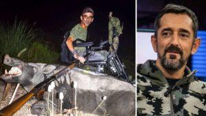 El cazador al que el Dr Cavadas le salvó su única mano caza un descomunal jabalí de 122 kilos